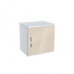 Нощно шкафче Мебели Богдан модел BM-AVA 1, крем гланц с бяло - Нощни шкафчета