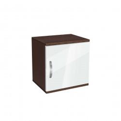 Нощно шкафче Мебели Богдан модел BM-AVA 1, бял гланц с венге - Нощни шкафчета