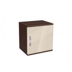 Нощно шкафче Мебели Богдан модел BM-AVA 1, крем гланц с венге - Нощни шкафчета