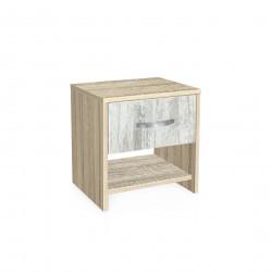 Нощно шкафче Мебели Богдан модел BM-AVA 2, кристал със сонома - Нощни шкафчета