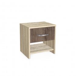 Нощно шкафче Мебели Богдан модел BM-AVA 2, орех със сонома - Нощни шкафчета