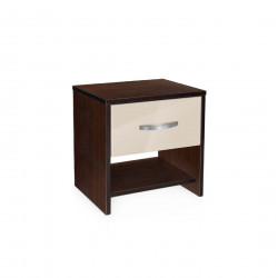 Нощно шкафче Мебели Богдан модел BM-AVA 2, крем гланц с венге - Нощни шкафчета
