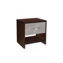 Нощно шкафче Мебели Богдан модел BM-AVA 2, сив гланц с венге - Нощни шкафчета