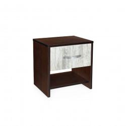 Нощно шкафче Мебели Богдан модел BM-AVA 2, кристал с венге - Нощни шкафчета