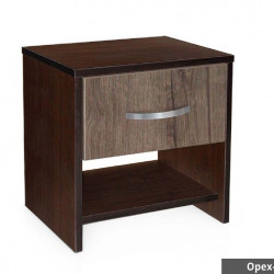 Нощно шкафче Мебели Богдан, модел BM-Ava 2, венге и орех - Нощни шкафчета