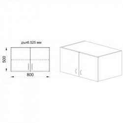 Надстройка Mod 1004, венге и астра - Гардероби