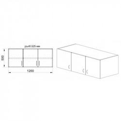 Надстройка Mod 1005, венге и астра - Гардероби