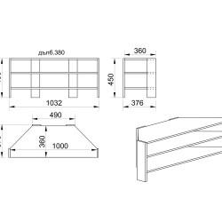 Ъглова ТВ маса Модел 6255 - ТВ Шкафове