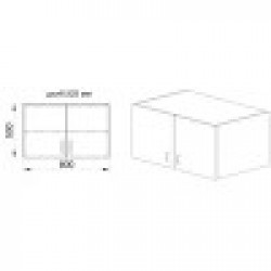 Нощно шкафче Mod 3055, сонома тъмна - Нощни шкафчета