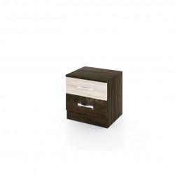 Нощно шкафче Mod 3007, венге и астра - Нощни шкафчета