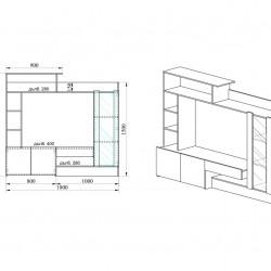 Секция City 6003 - Комплекти Мебели
