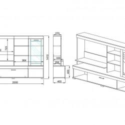 Секция Memo.bg, модел 6033 - Комплекти Мебели