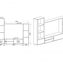 Секция модел 6038 - Комплекти Мебели