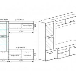 Секция модел 9013 - Комлекти Мебели