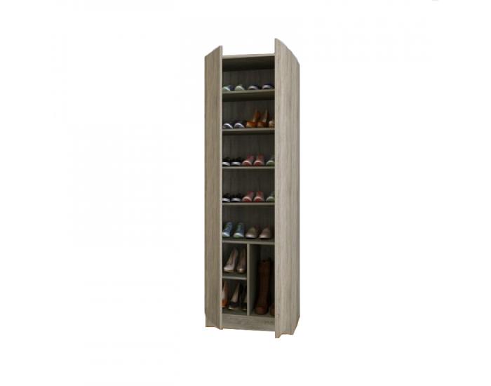 Шкаф за обувки Мебели Богдан 4036, сонома - Шкафове за обувки