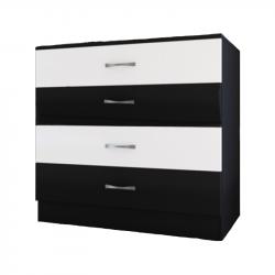 Скрин Memo.bg модел 255, Черно и Бяло, 4 чекмеджета - Скринове