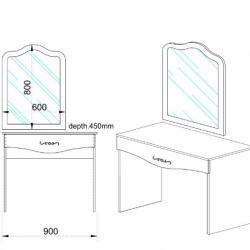 Тоалетка Memo.bg Модел 3048 - Тоалетки
