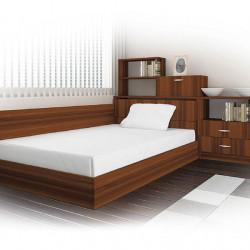 Спалня комплект модел 55, за матрак 120/190, 2 цвята, с повдигащ механизъм -