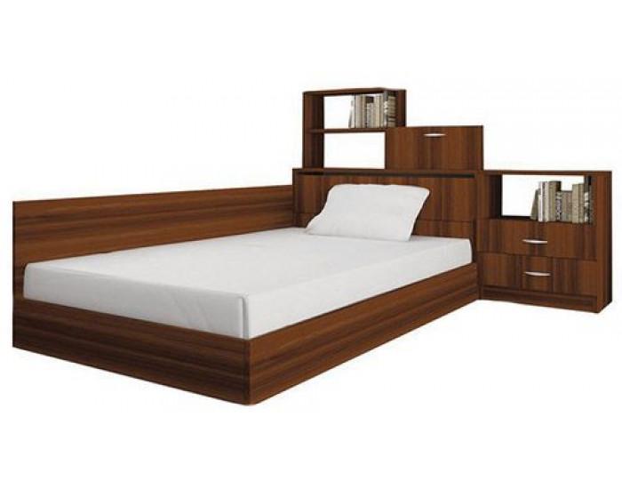 Спалня комплект модел 55, за матрак 120/190, 2 цвята, с повдигащ механизъм