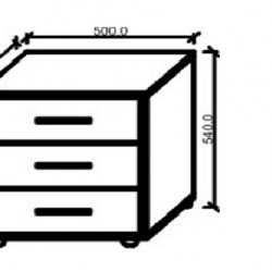 Нощно шкафче Memo.bg Модел BM Каролa, с тапецирани чекмеджета - Kolorado
