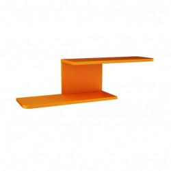 Етажерка Memo.bg модел BMR-Trak 3, цвят Бежово и Оранжево, 90 / 23 / 25 см - Мебели за детска стая