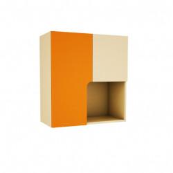 Шкаф за стена Memo.bg модел BMR-Trak4, цвят Бежово и Оранжево, 70 / 30 / 76 см - Mipa