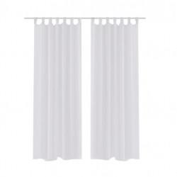 Бели прозрачни завеси 140 х 175 см – 2 броя - Завеси, Пердета и Кoрнизи