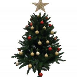 Коледна елха Alpina Натурален Смърч 120 см - Сезонни и Празнични Декорации