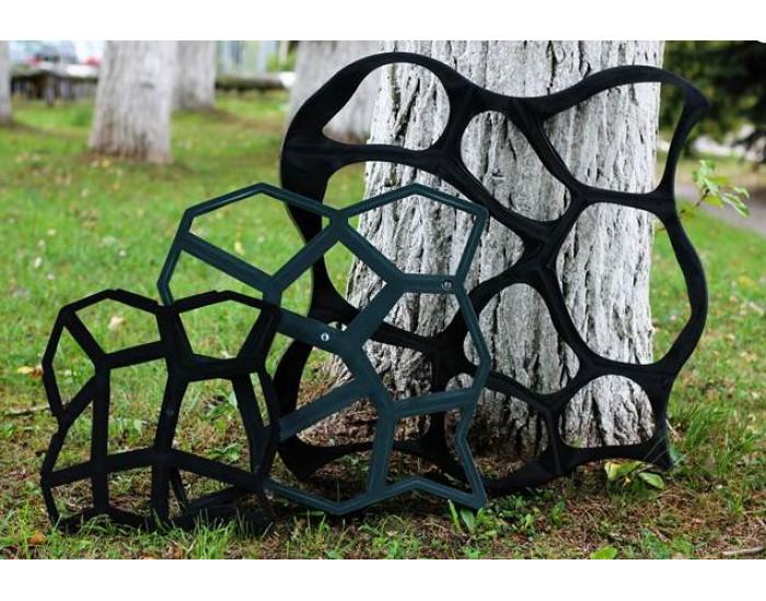"""Форма за градинска настилка """"Закръглени камъни"""" 6х80х80 см - Инструменти, Аксесоари за градината"""