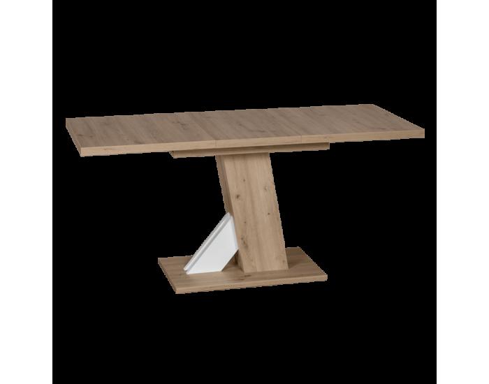 Разтегателна трапезна маса модел Lusso- дъб артисан / бял