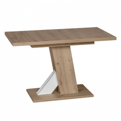 Разтегателна трапезна маса модел Lusso- дъб артисан / бял -