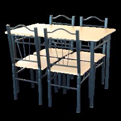 Комплект маса с 4 стола модел Memo-20009 - клен - Комплекти маси и столове