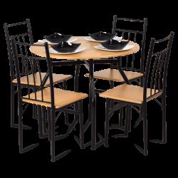 Комплект маса с 4 стола модел Memo-20010 - бук - Комплекти маси и столове