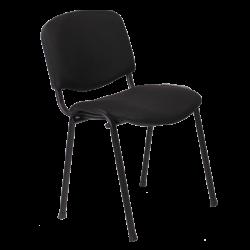 Посетителски стол модел Memo-1130 LUX - черен -