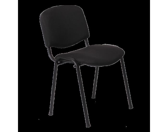 Посетителски стол модел Memo-1130 LUX - черен