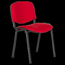 Посетителски стол модел Memo-1130 LUX - червен - Столове