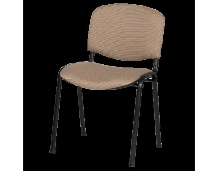 Посетителски стол модел Memo-1130 LUX - бежово-черен