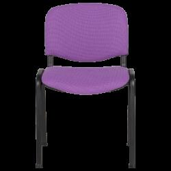Посетителски стол модел Memo-1130 LUX - лилаво-черен - Столове