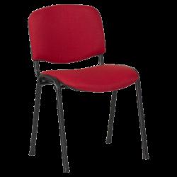 Посетителски стол модел Memo-1130 LUX - червено-черен - Столове