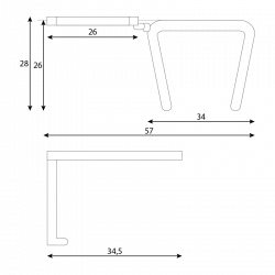 Масичка за посетителски столове модел Memo - Столове
