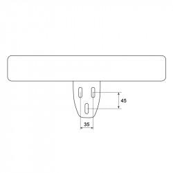 Подлакътник за стол модел Memo- 6012 - ляв - Столове
