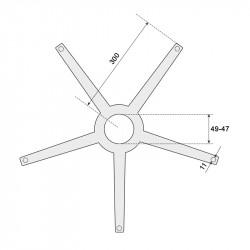Звезда за офис стол - 300 мм - полипропилен модел Memo - Столове