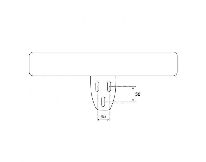 Подлакътник за офис стол модел Memo- 6083 - ляв