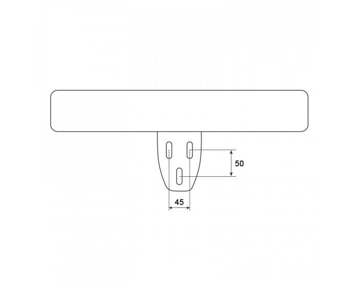 Подлакътник за офис стол модел Memo- 6083 - десен