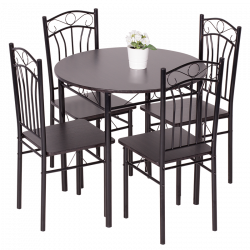 Комплект маса с 4 стола модел Memo-20013 - венге 2 - Комплекти маси и столове