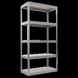 Метален стелаж модел Memo-Star 180x90x35 см, до 175 кг на рафт - цинк - Мебели от метал