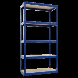 Метален стелаж модел Memo-Star 180x90x40 см, до 175 кг на рафт - син - Мебели от метал