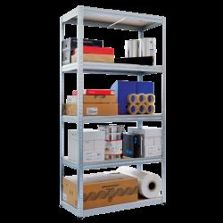 Метален стелаж модел Memo-Star 180x90x40 см, до 275 кг на рафт - цинк - Мебели от метал