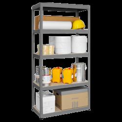 Метален стелаж модел Memo-Star 180x90x45 см, до 350 кг на рафт - сив - Мебели от метал