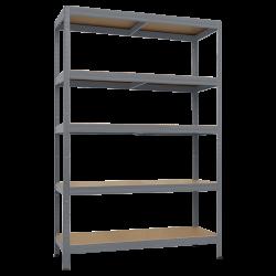 Метален стелаж модел Memo-Star Plus 180x120x60 см, до 250 кг на рафт - сив - Мебели от метал